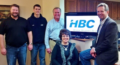 Pictured Left to Right: Josh Ahlbrecht, Josh Kronebusch, Tom Dwelle, Cynthia Youmans, and Jerry Olson