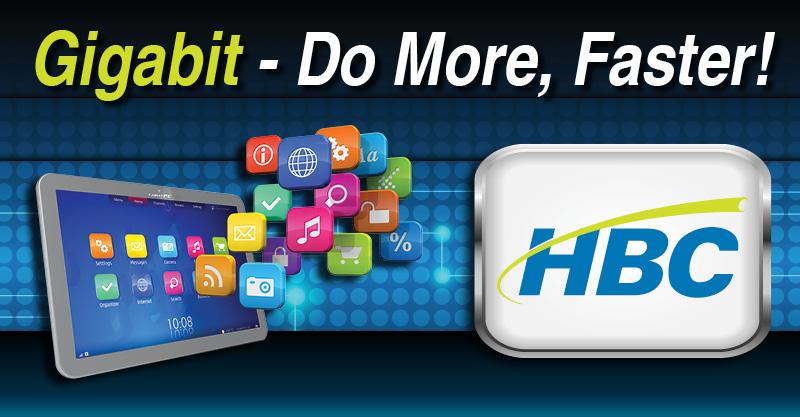 Gigabit Internet - HBC   Hiawatha Broadband Communications